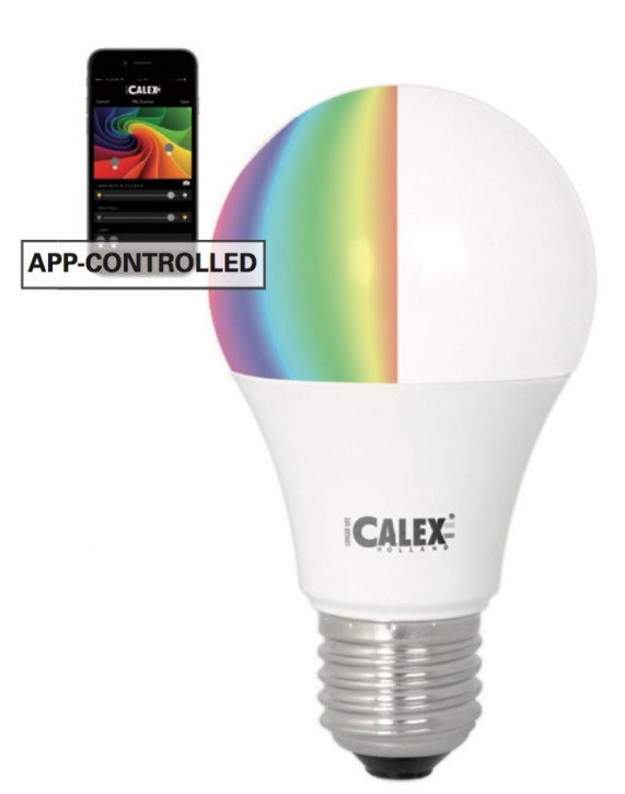 Calex LED A60 GLS-lamp 240V 7W 550lm E27, 2700K, IOS/Android