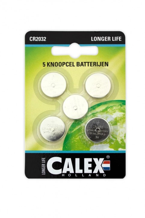 Calex Button cell Lithium CR2032 3V, card 5 pcs.