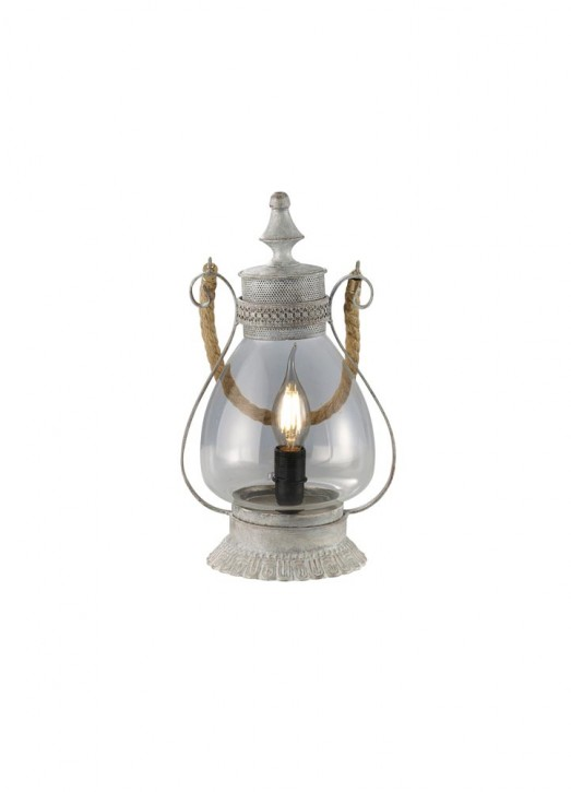 Lampe de table Linda gris ancien Trio 503500161 CEE=A++ ... E