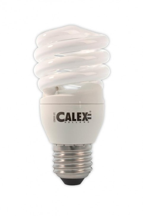 Calex T2 twister E-saving lamp 240V 15W E27, Cool White 4000K
