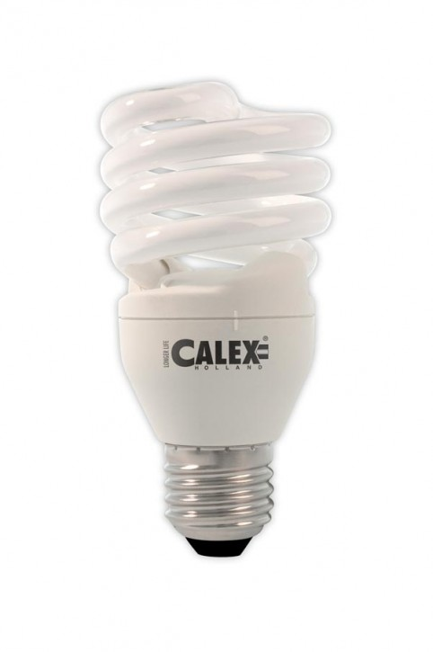 Calex T2 twister E-saving lamp 240V 20W E27, Daylight 6500K