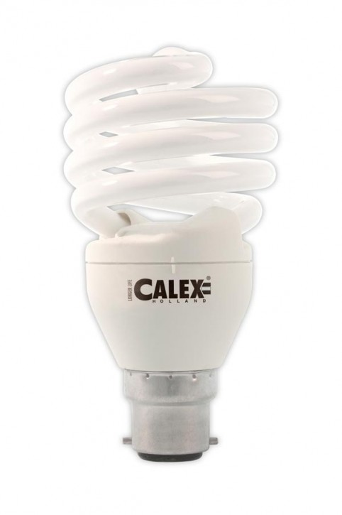Calex T2 twister E-saving lamp 240V 24W B22, Daylight 6500K
